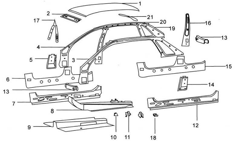 Рис. 5-9 детали средней части